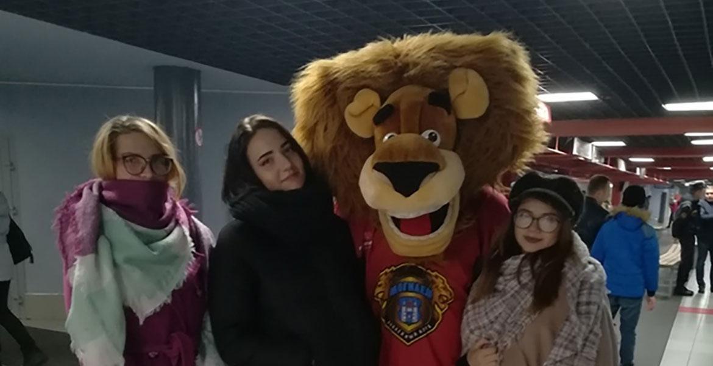 Студенты факультета НиМО поддержали хоккейную команду г.Могилева